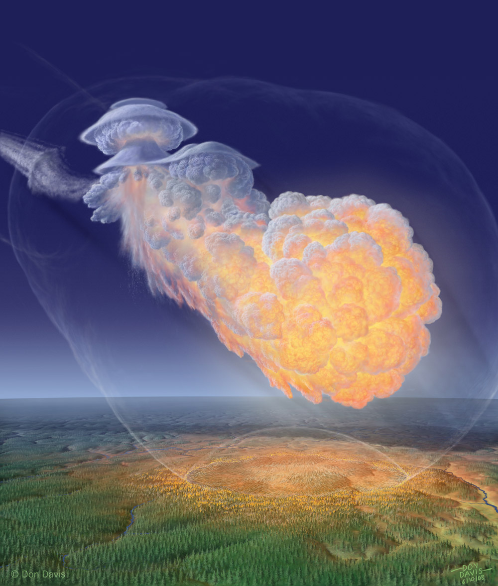 Artist Rendition of Tunguska Event by Don Davis
